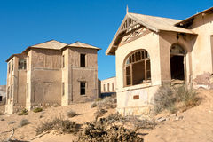 Abandoned houses in sand Royalty Free Stock Photos