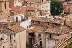 Abandoned houses in spanish town Royalty Free Stock Photo