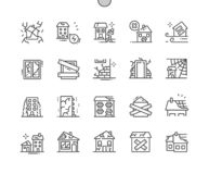 Free Abandoned Houses Well-crafted Pixel Perfect Vector Stock Images - 158221844