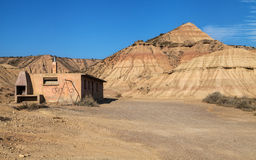 Abandoned hut in Bardenas Reales Stock Photos