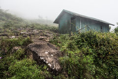 Abandoned Hut on Hill Royalty Free Stock Images