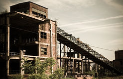 Abandoned Industrial 2. An old romanian abandoned factory stock photography