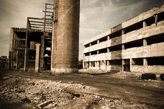 Abandoned Industrial 5. An old romanian abandoned factory Royalty Free Stock Photo