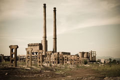 Abandoned Industrial. An old romanian abandoned factory Stock Image