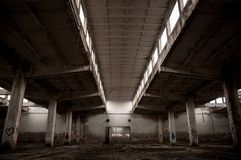 Abandoned industrial building Royalty Free Stock Photos