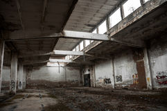 Abandoned industrial building Royalty Free Stock Images