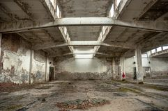 Abandoned industrial building. Photo of an Abandoned industrial building Stock Photography