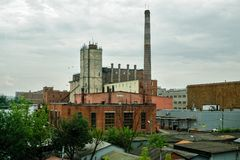 Abandoned industrial building of brewery in Moscow Royalty Free Stock Photos