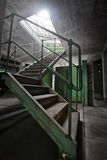 Abandoned industrial building interior Stock Photo