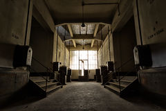 Abandoned industrial building interior Royalty Free Stock Image