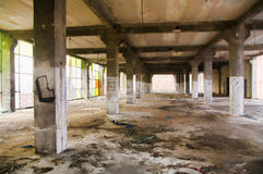 Abandoned industrial building interior Royalty Free Stock Images