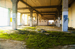 Abandoned industrial building interior Stock Images