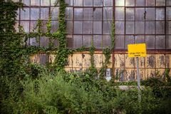 Abandoned Industrial Building Royalty Free Stock Photography