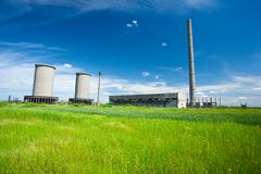 Abandoned industrial buildings Royalty Free Stock Photography