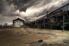 Abandoned Industrial Buildings Royalty Free Stock Image