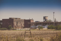 Abandoned industrial buildings Royalty Free Stock Photo