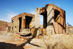 Abandoned industrial buildings mine. Old buildings mine (Andalusia spain Royalty Free Stock Photo