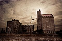 Abandoned Industrial Buildings Royalty Free Stock Photos