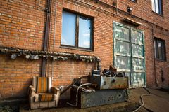 Abandoned industrial exterior Stock Photos