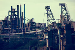 Abandoned industrial facility Stock Photo