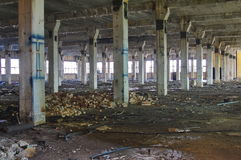 Abandoned industrial factory interior Royalty Free Stock Image