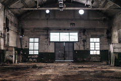 Abandoned industrial factory. Royalty Free Stock Photography