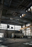 Abandoned Industrial interior Royalty Free Stock Photography