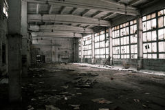 Abandoned Industrial interior Royalty Free Stock Images