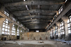 Abandoned Industrial interior Royalty Free Stock Image