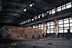 Abandoned Industrial interior Stock Photography
