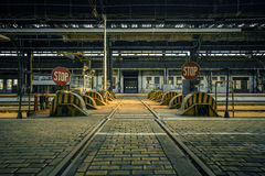 Abandoned industrial interior with bright light. Photo of an Abandoned industrial interior with bright light Stock Photo