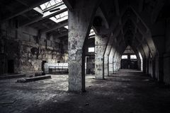 Abandoned industrial interior Royalty Free Stock Photos