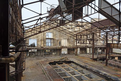 Abandoned Industrial interior Stock Images