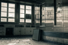 Abandoned Industrial Kitchen Stock Photography