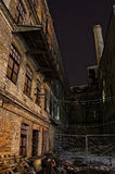 Abandoned industrial site. Tallinn, Estonia. By night in available light Royalty Free Stock Photo