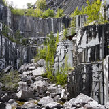 Abandoned industrial site for marble extraction. Now haven for nature. Stock Photography