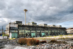 Abandoned Industrial Warehouse Royalty Free Stock Photos