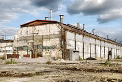 Abandoned Industrial Warehouse Stock Image