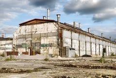 Abandoned Industrial Warehouse Stock Image