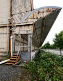 Abandoned Industrial warehouse loading dock Stock Photo