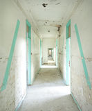 Abandoned infirmary in a military base Stock Photos