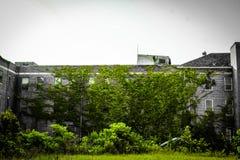 Abandoned insane asylum stock images
