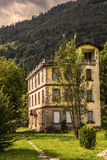 Abandoned Institute. In Clusone, Italy royalty free stock image