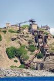 Abandoned iron mine Stock Images