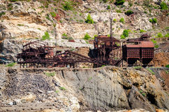 Abandoned iron mine Royalty Free Stock Image