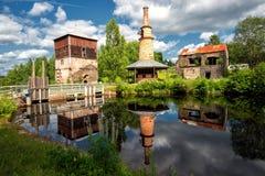 Abandoned ironworks royalty free stock photos