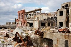 Abandoned Island of Gunkanjima Stock Photography