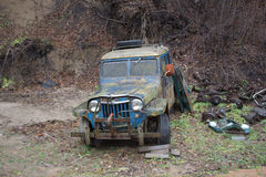 Abandoned Jeep Stock Photography