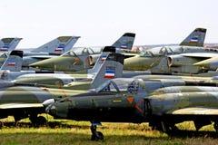 Abandoned jet fighters. Abandoned jet fighter planes stock image
