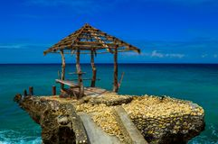 An abandoned jetty of the beautiful Camotes Island, Philippines Stock Photo